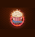 light sign popcorn brickwall background vector image vector image