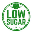 low sugar sign or stamp vector image vector image
