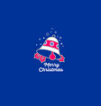 merry christmas bell icon vector image vector image