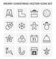 merry christmas icon vector image
