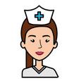 nurse professional woman of health vector image vector image