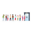 open door queue trending people characters vector image vector image