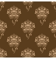 Oriental dainty paisley flowers seamless pattern vector image