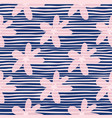 pink daisy flowers seamless pattern background vector image vector image
