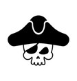 pirate skull logo head of skeleton and sabers vector image vector image