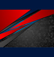 red blue abstract corporate background with dots vector image vector image