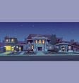 rental house estate night background vector image