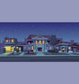 rental of house estate night background vector image vector image