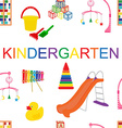 seamless pattern for kindergarten vector image