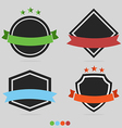 set badge and labels vector image vector image