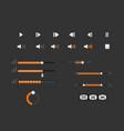 set of progress bars loader and preload circle ui vector image vector image