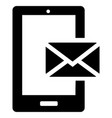 smartphone email or sms icon vector image