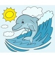 Smiling dolphin jumping 5 vector image