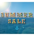 Summer sale banner for your design vector image vector image