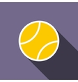 Tennis ball icon flat style vector image vector image
