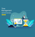 time management and procrastination concept vector image