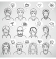 unrecognizable people faces vector image vector image