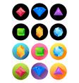 various precious stones vector image vector image
