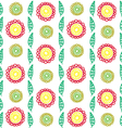 vertical flower pattern vector image