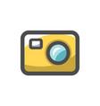 video camera flash icon cartoon vector image vector image