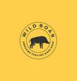 wild boar template vector image