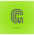 Graphic Line Font Logo Element Letter G vector image
