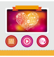 design template with music icons vector image