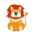 Happy lion cartoon vector image