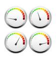 3d speed meter design template vector image