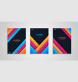 abstract cover collection with colorful shapes vector image vector image