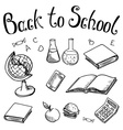 Back to school School subjects on on a white vector image vector image