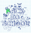 Back to school sketch background vector image