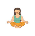 beautiful curvy plus size woman meditating in vector image