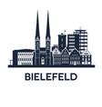 bielefeld skyline emblem vector image vector image