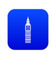 big ben clock icon digital blue vector image vector image