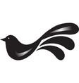 bird icon in simple design vector image vector image