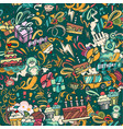 birthday seamless pattern vector image vector image
