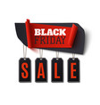 black friday sale abstract banner isolated on vector image vector image