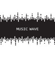 black pulse music player on white audio vector image