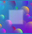 blue spectrum background with color abstract vector image