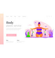 body contouring landing page template vector image vector image