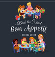 bon appetit colorful poster vector image