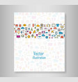book all line icons color of technology school vector image vector image