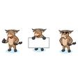 Buffalo Cream Mascot happy vector image vector image