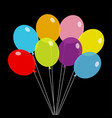 bunch balloons balloon set colorful vector image