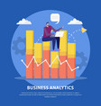 business analytics flat concept vector image