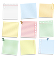 Colored Notebook Paper vector image