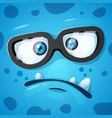 cute funny crazy monster character he is vector image