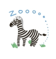 Cute Zoo Animal Kawaii eyes and style vector image