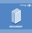 document icon symbol vector image vector image